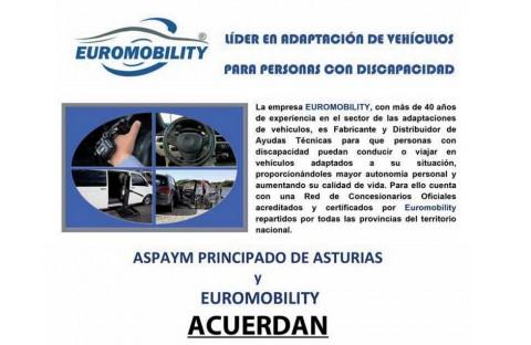 Aspaym-Asturias y Euromobility cierran un acuerdo de colaboración